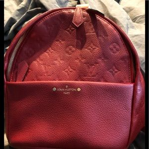 LOUIS VUITTON VINTAGE AUTHENTIC MONOGRAM RED